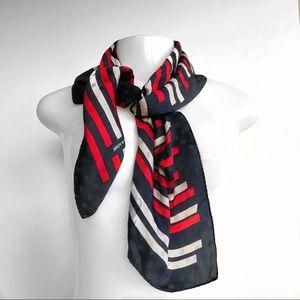 Jones New York VTG Striped Silk Scarf